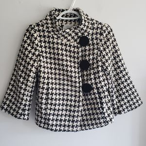 Moschino Cheap and Chic Wool Houndstooth Jacket
